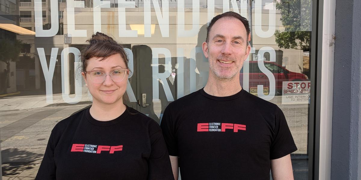 EFF's new logo member t-shirt