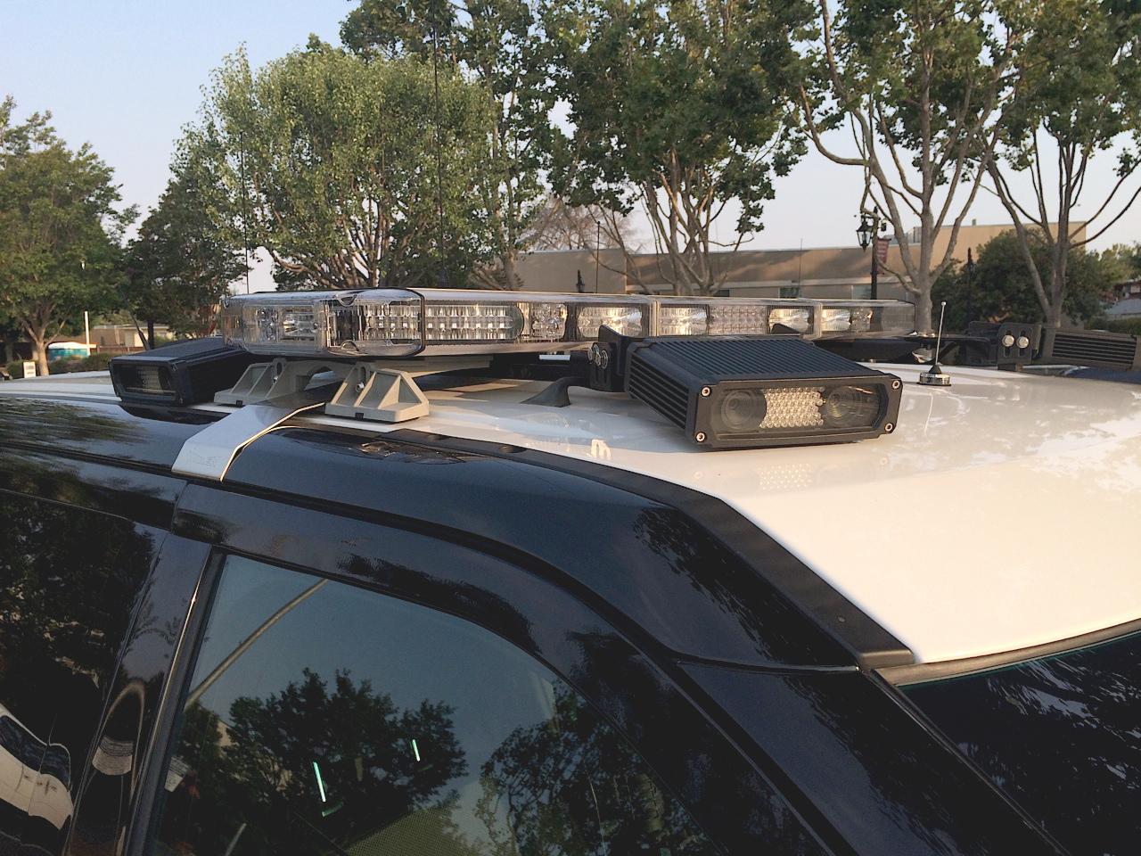 ALPR atop a police vehicle