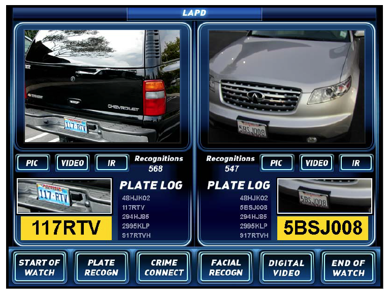 Image of License Plate Data and Cars