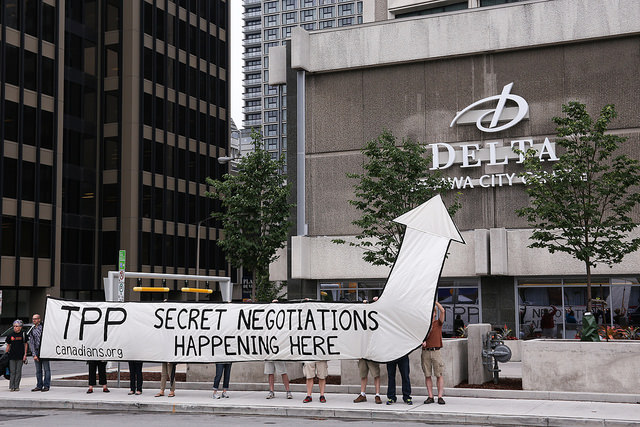 TPP secret negotiations happening here in Ottawa