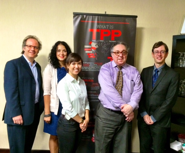 TPP experts briefing in Ottawa, 7-9-2014