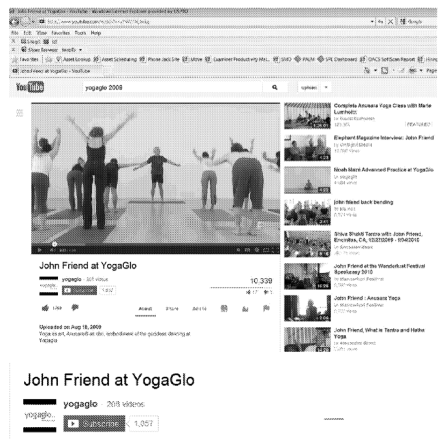 YogaGlo prior art video