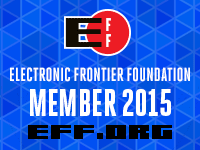 EFF 2015 membership badge