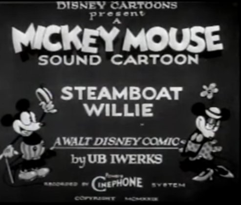 title card for Steamboat Willie