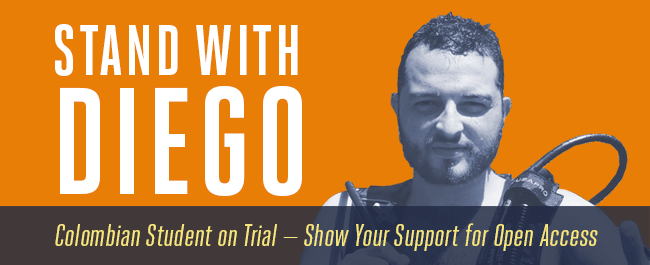 Stand with Diego. Support Open Access.