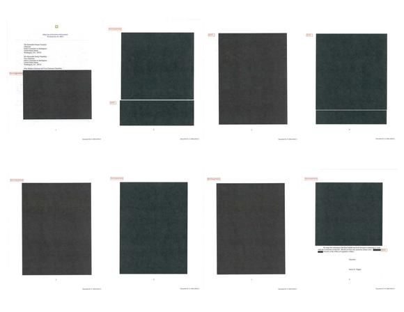 The Office of the Director of National Intelligence redacted almost all the pages of this memo on target killings.