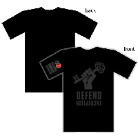 Black Metallic Defend Encryption T-Shirt