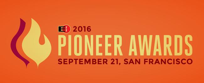EFF 2016 Pioneer Awards: September 21st in San Francisco
