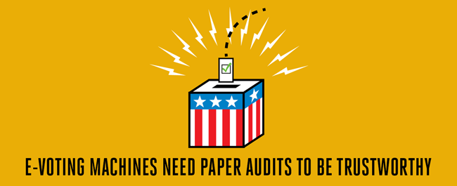 E-Voting Machines Need Paper Audits to be Trustworthy