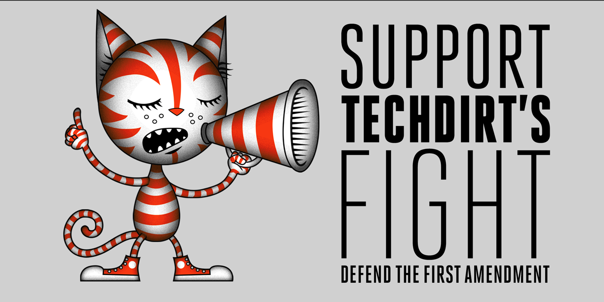 Support Techdirt's First Amendment fight for its life