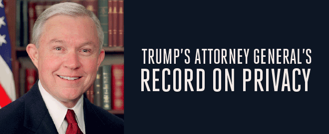 Trump's Attorney General's Record on Privacy