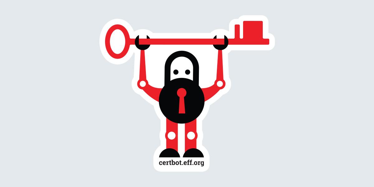 Certbot sticker