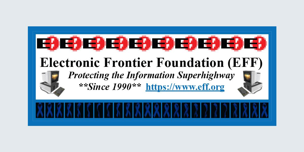 Information superhighway bumper sticker