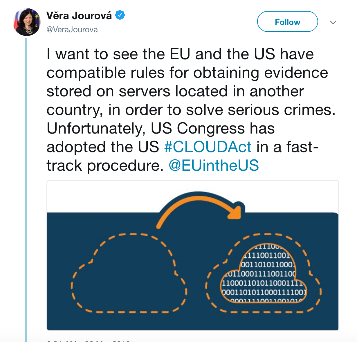 The U S  CLOUD Act and the EU: A Privacy Protection Race to