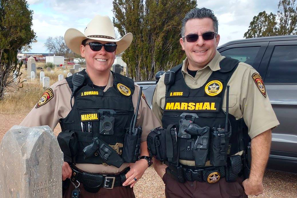 Two Tombstone Marshals wearing body cameras