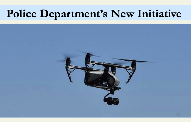 Photo of the El Paso Police Department's new drone