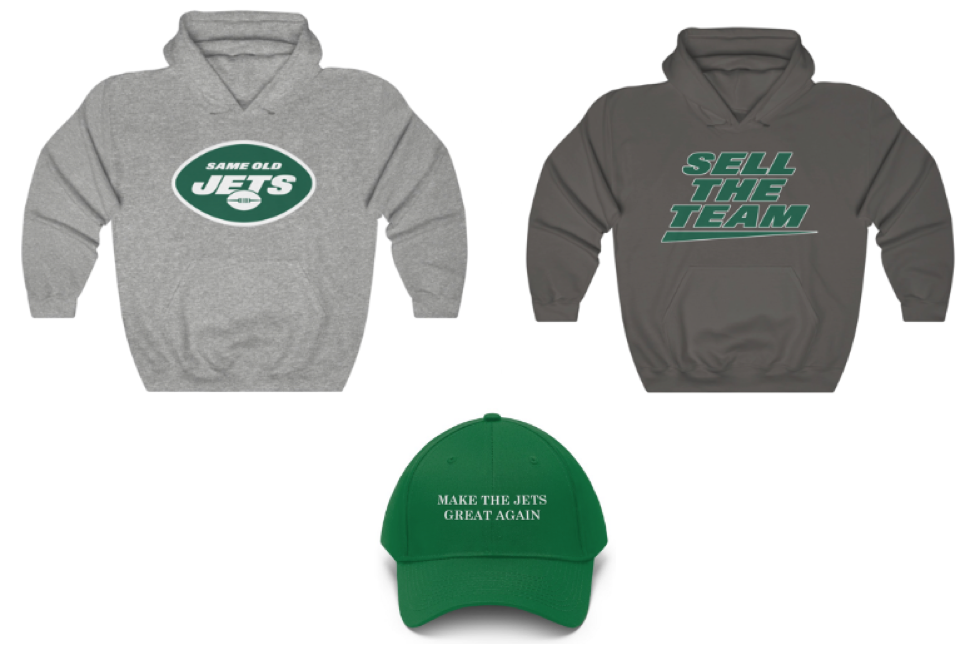Same Old NFL: League Abuses Trademark to Shut Down New York Jets Parody Store