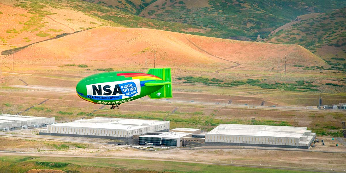 Airship flying above NSA hq.