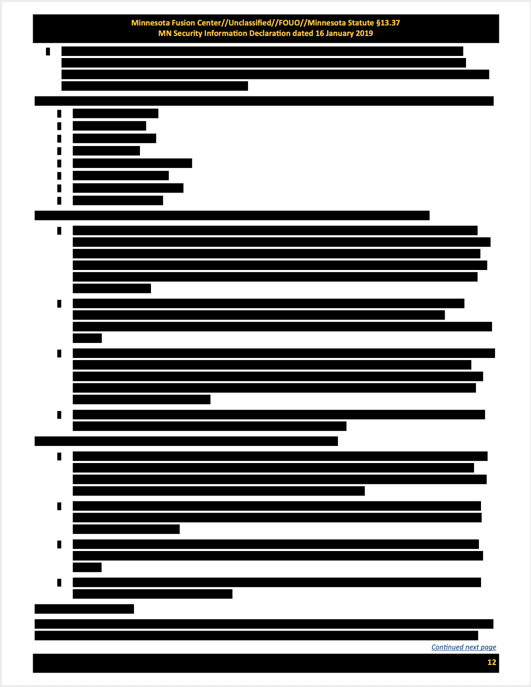 A fully redacted email.