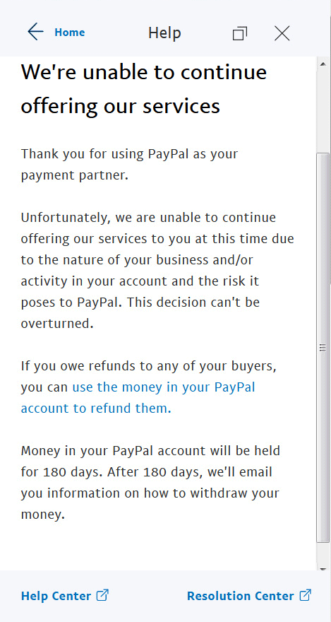 Money paypal account without PayPal Money