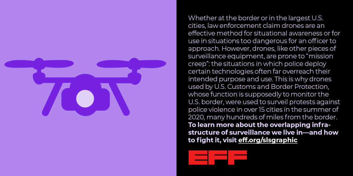 the situations in which police deploy certain technologies often far overreach their intended purpose and use. This is why drones used by U.S. Customs and Border Protection...more text cu