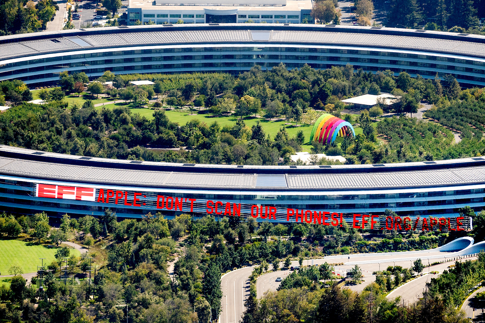 Why EFF Flew a Plane Over Apple's Headquarters