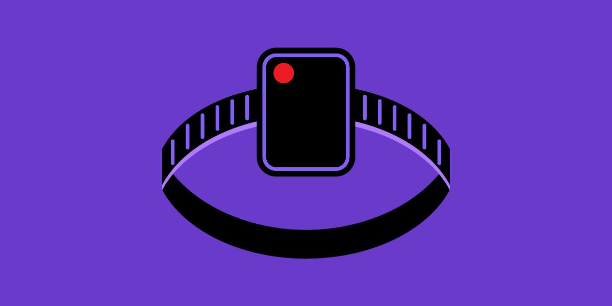 Illustration of an GPS ankle bracelet monitor