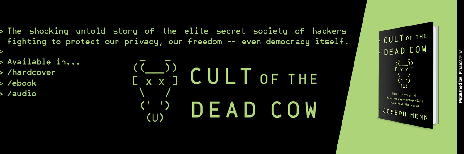 Cult of the Dead Cow Book Photo
