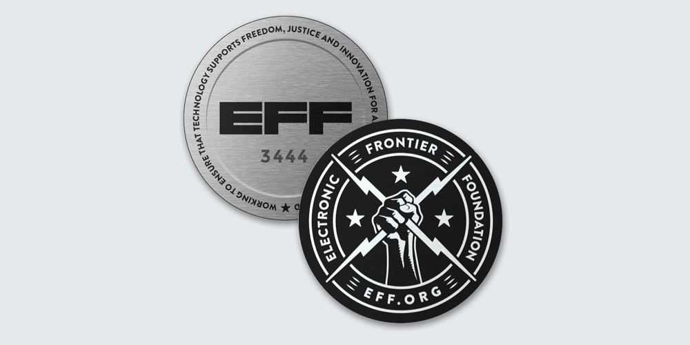 EFF 30th Anniversary Challenge Coin