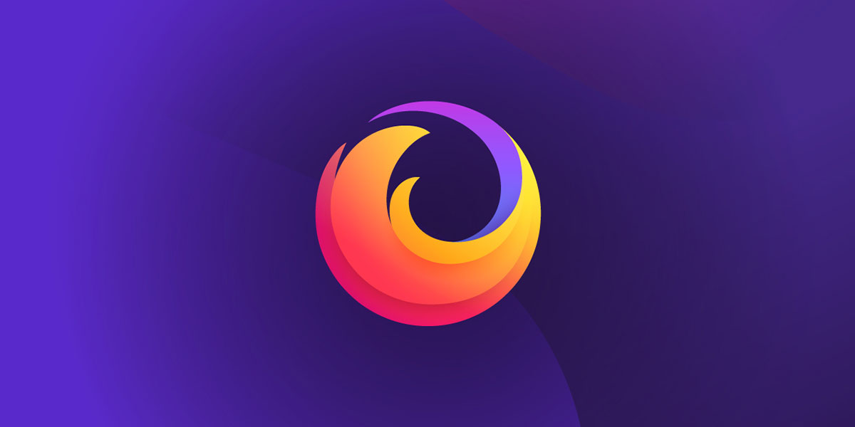 Firefox logo on purple background