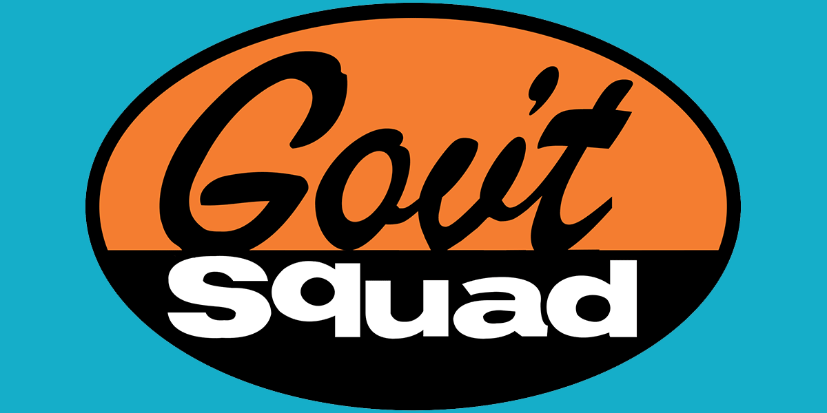 Gov't Squad (Geek Squad logo parody)