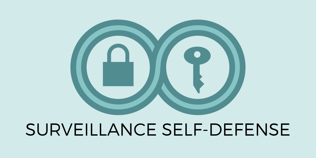 Surveillance Self-Defense logo and title