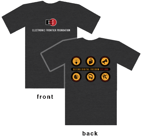 The new EFF Dark Heather T-Shirt!