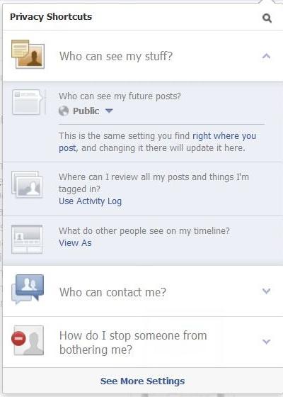 Facebook screenshot