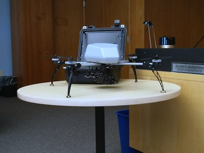 A sample of the drone model the Sheriff hopes to purchase.