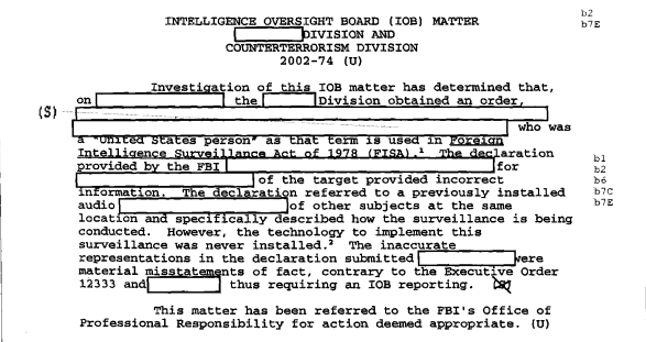 patterns of misconduct fbi intelligence violations from 2001 2008