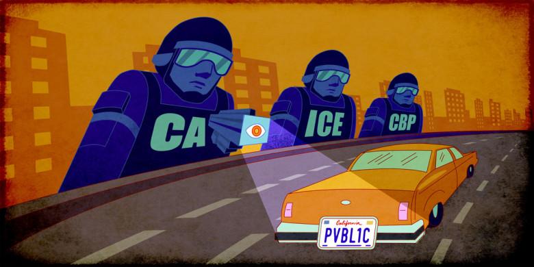 ICE and CBP agents use ALPR surveillance on a car