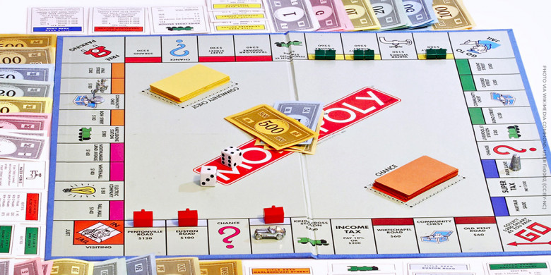 Monopoly Board via Wikimedia Commons user fir0002