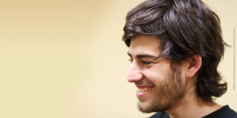 Aaron Swartz at a Boston Wiki Meetup in 2009 photo by Sage Ross via Wikipedia