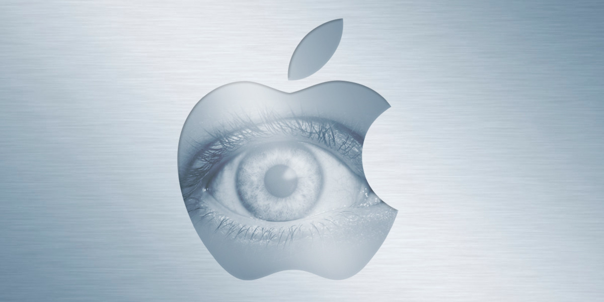 apple with an eye in the center