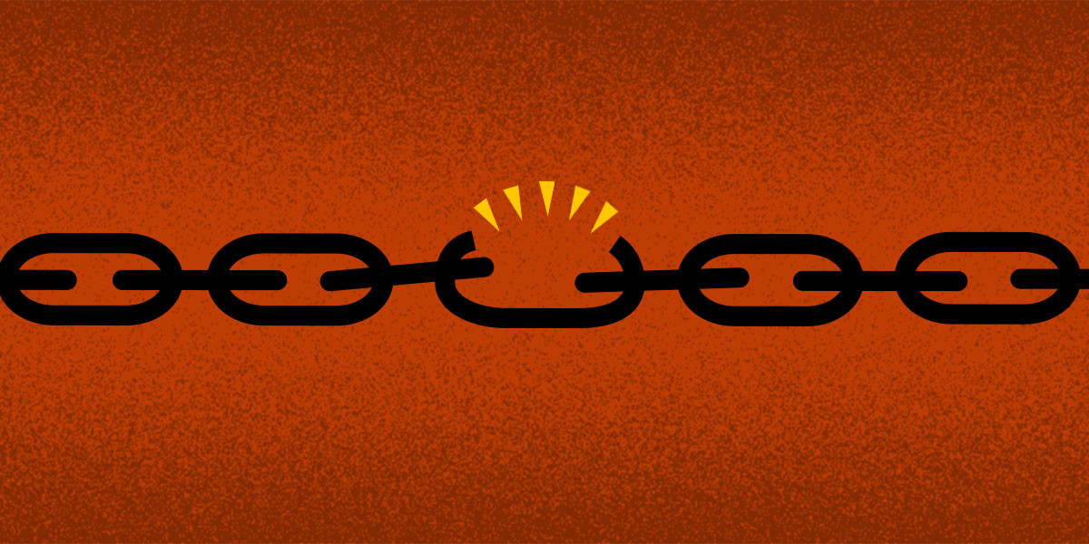 a chain where one link is broken