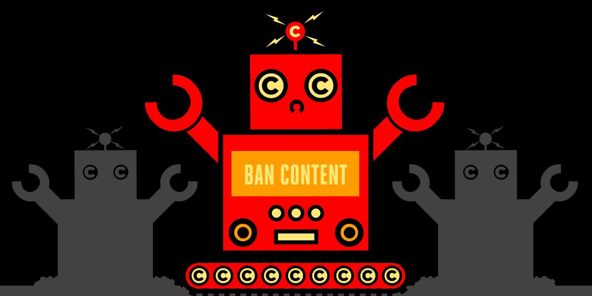 Copyrightbot Article 13 Ban Content