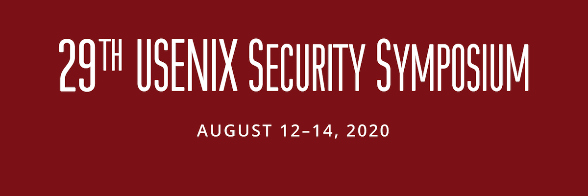 29th Usenix Security Banner