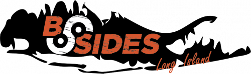 "BSides Long Island Logo: Silhouette of Long Island with the word ""BSides"" embedded."