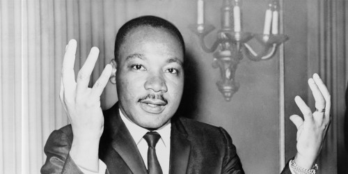 Martin Luther King Jr photo public domain via Wikimedia Commons