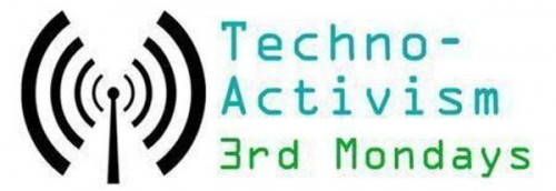 Portland TA3M logo, with the text 'Techno-Activism 3rd Mondays'