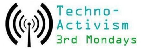 Portland TA3M logo, with the text 'Techno-Activism 3rd Mondays'