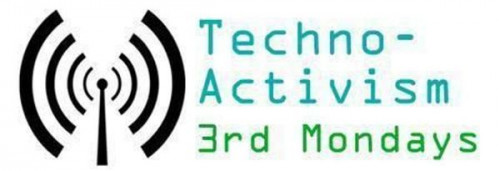 The logo of Techno-Activism 3rd Mondays.