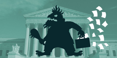 Patent Troll loses his papers outside the Supreme Court