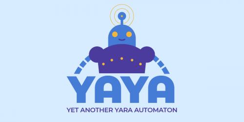 The YAYA logo and automaton mascot